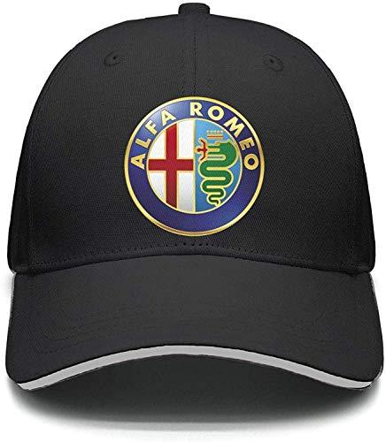 Qqwqef23f Trucker Hat Mesh Cap Alfa-Romeo-Logo- Dad