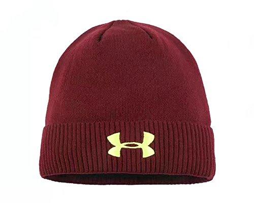 Mütze Caps für Frauen Dicke Winter Mütze Strickmütze warme Beanies, Wine red