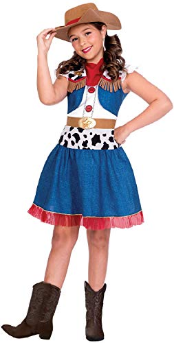 Fancy Me Mädchen Cartoon Cowgirl Wild West World Book Day TV-Film Western Halloween Karneval Kostüm Outfit