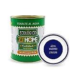 Pintura acrilica Ecológica al agua Azul Marino para madera, metal, radiadores, aluminio / Esmalte al agua multi superficie / cunas, muebles, azulejos , puertas para exterior e interior 750ml