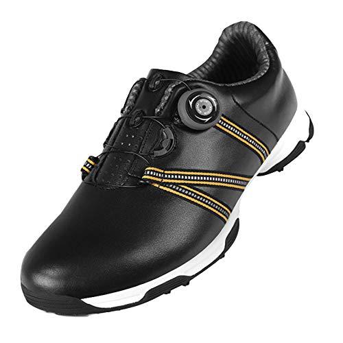 Zapatos de Golf Impermeables para Hombre,Zapatillas de Golf Ligeras Y Cómodas,con Púas...