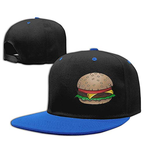 MIANZI Boys Girls Trucker Hat. Delicious Hamburger Snapback Baseball Cap Hip-Hop