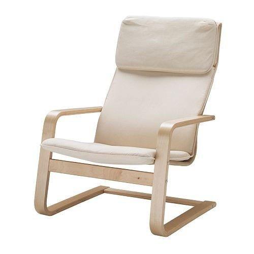 Sillón voladizo «Pello», de abedul y tela de algodón, de Ikea, 1.25 mm, beige, 1