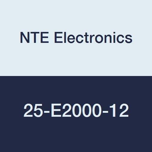 NTE Electronics 25-E2000-12 Series 25-E2000 Euro-Style Terminal Block Barrier Strip, Dual 20 Amp, 12 Pole, 8.2 mm Pitch, 300V, 20-12 AWG Wire Range