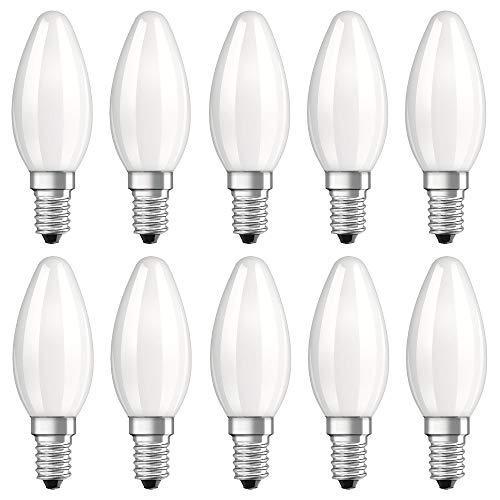 10 x Neolux LED Filament Leuchtmittel Kerzenform 2,8W = 25W E14 matt Retrofit warmweiß 2700K