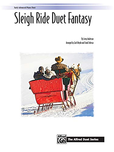 Sleigh Ride Duet Fantasy  |  Klavier  |  Sheet