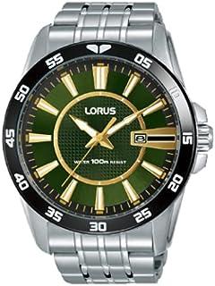 ساعة رياضية من الستانلس ستيل من لوروس للرجال - موديل RH967HX9