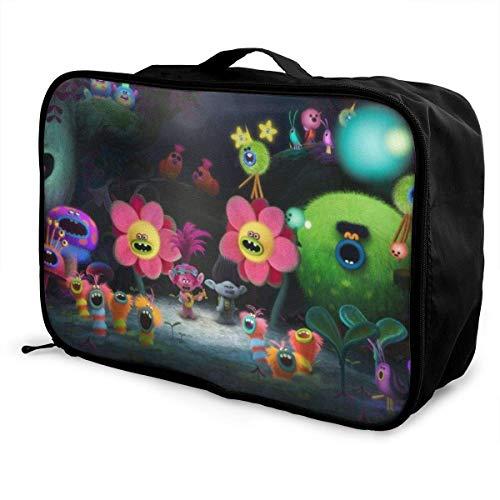 Bolsa de viaje Trolls Paet plegable impermeable ligera portátil de alta capacidad para llevar en bolsas Lage