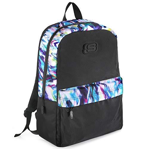 Skechers Rucksack, Klassisch Basic Wasserabweisend Backpack, Ultraleicht Tagesrucksack, Schultaschen für Mädchen Jungen Teenager, 16 Liter, Flash