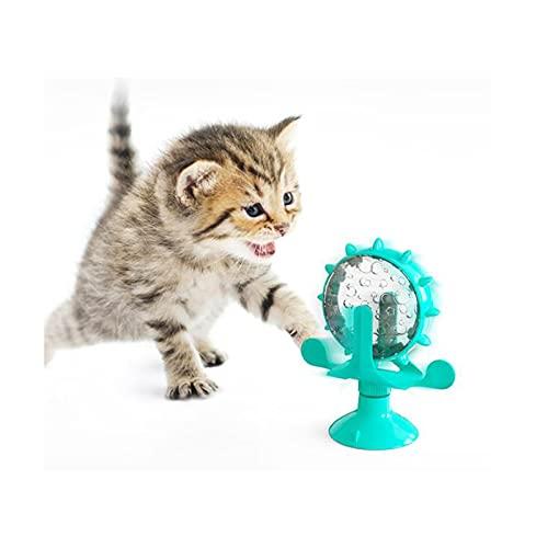 LICHAO Juguete para mascotas, Juguete de molino de viento, Juguete giratorio de molino de viento, Juguete de gato de molino de viento, Juguete interactivo para gatos, Juguete de entrenamiento