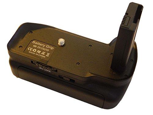 vhbw Battery grip incl. 2x Adattatori Batteria EN-EL14, Pulsante di Scatto, Selettore Centrale per Nikon D5100, D5200, D5300.