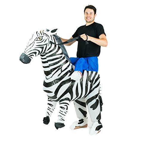Bodysocks Adult Inflatable Zebra Fancy Dress Costume
