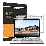 [2 Stücke] MEGOO Surface Book 3 Bildschirmschutzfolie, präzise ausgeschnittenes gehärtetes Glas, einfache Installation, blasenfrei, leichtgängig, kratzfeste Bildschirmschutzfolie - 13,5 Zoll