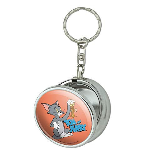 GRAPHICS & MORE Tom and Jerry Best Friends Portable Travel Size Pocket Purse Ashtray Keychain with Cigarette Holder