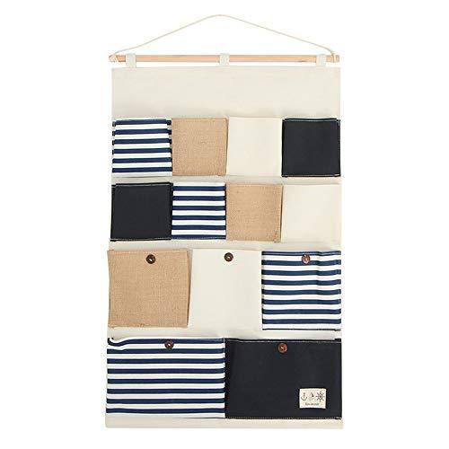 NLYWB Hänge-Organizer mit 13 Taschen, über der Tür, Organizer, Wandschrank, hängende Aufbewahrungstasche, multifunktional, für Wohnzimmer, Schlafzimmer, Badezimmer, inklusive Haken