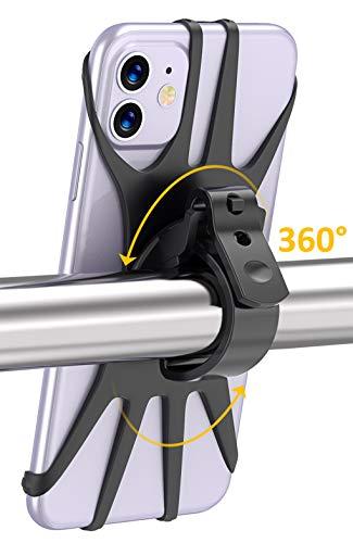 Cocoda Handyhalterung Fahrrad, 360° Drehbare Handyhalterung Motorrad, Anti-Shake Handyhalter Fahrrad für iPhone 11 Pro Max/X/XS MAX/XR/ 8/8 Plus, Samsung S20/ S10/ S10e & Alle 4,0-6,5 Zoll Handys