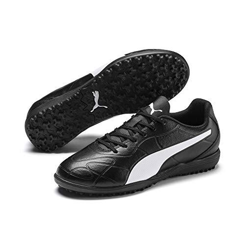 Puma Unisex-Kinder Monarch TT Jr Fußballschuhe, Black White, 5 EU