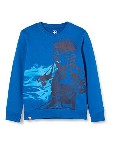LEGO Jungen CM-50421-SWEATSHIRT Sweatshirt, Blau (Blue 553), (Herstellergröße: 110)