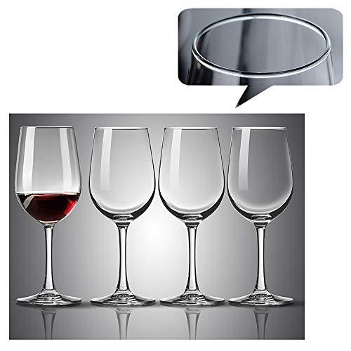 L-KCBTY Copa para Vino Blanco 4 Piezas - Copas De Vino Tinto Tradicionales-Tallo Largo,Transparente,Estables Y Resistentes,Irrompibl Copas Vino Cristal Fino En Titanio Sin Plomo