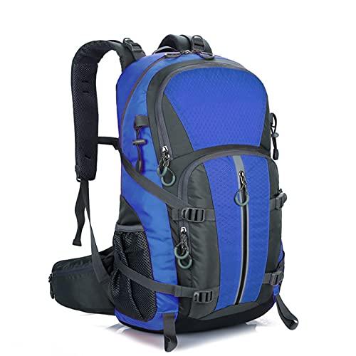 HTTC Mochila de Viaje al Aire Libre Impermeable para Hombres y Femeninos, Mochila de Gran tamaño 40L, Adecuado para Practicar Senderismo, Camping, montañismo, Ciclismo, v Blue