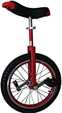 TTRY&ZHANG 24inch Unicycles with Handles - Adults/Heavy Duty People/Professionals, Outdoor Large Wheel Unicycle with Fat Tire and Adjustable Saddle (Color : RED)