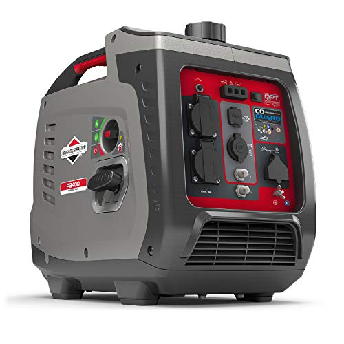 Briggs & Stratton 030800 Benzin Inverter Stromerzeuger Generator der PowerSmart Serie P2400 mit 2400 Watt/1800 Watt sauberem Strom, ultraleise und leichtgewichtigise und leichtgewichtig, W
