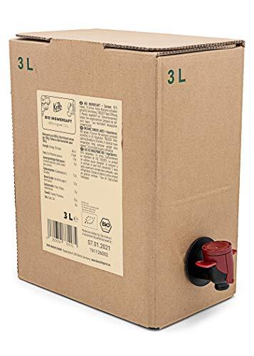 KoRo – Biologisch zuiver gembersap Bag-in-Box 3 L – Zonder toegevoegde suiker, kleurstoffen of conserveringsmiddelen