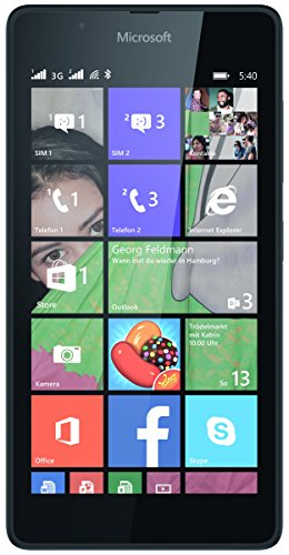 Microsoft A00026854 Lumia 540 Smartphone (12,7 cm (5 Zoll) Display, 720 x 1280 Pixels, 8MP, 1GB RAM, Win 8.1) schwarz