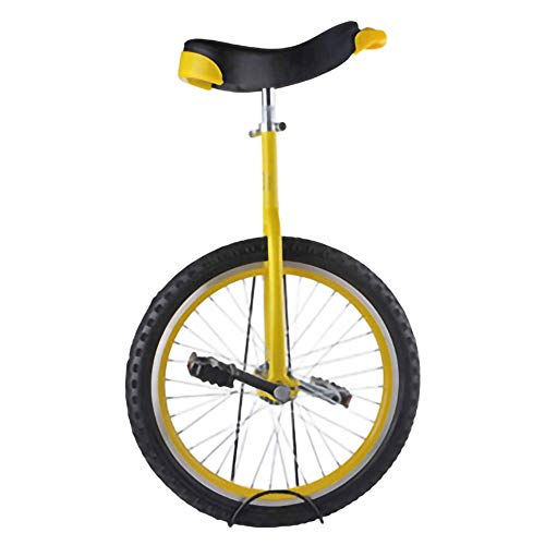 Einrad,Balance Radfahren ÜBung Akrobatik Einrad Einstellbar Skidproof Reifen Konturiert Ergonomischer Sattel FüR Kinder AnfäNger / 18 Zoll/Gelb