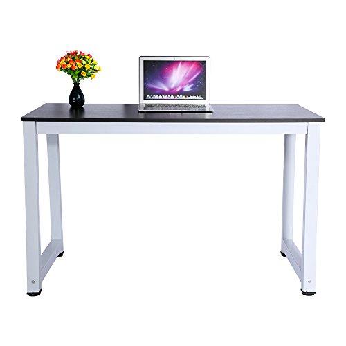 Escritorio de Madera Portátil para Computadora Mesa de Computadora Simple Mesa Moderna de Madera de Nogal Y Metal para Computadora Mesa para Sentarse Escritorio Escritorio de Escritura Mesa