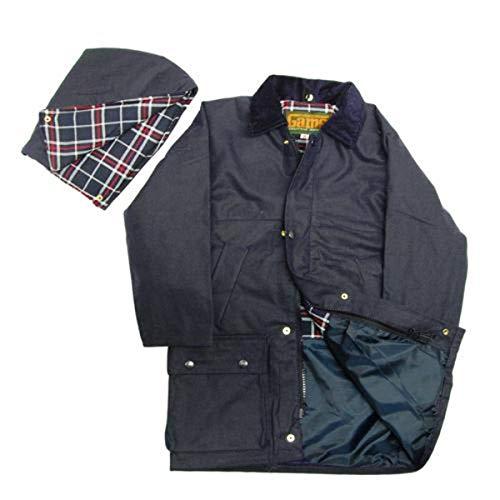 Game Regenjacke für Kinder, gewachst, britischer Stil mit Quilt-Muster Gr. -5-6 Jahre, navy