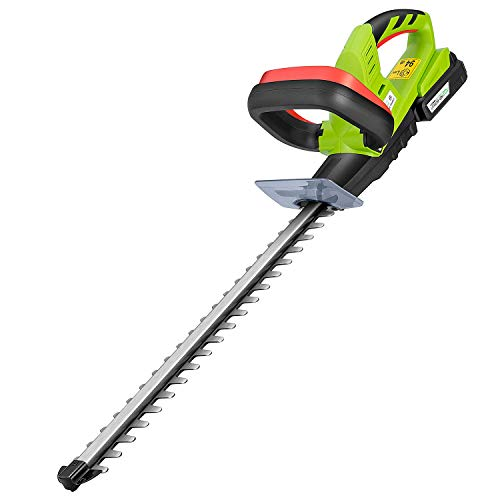 VIVOSUN 20V 20-inch Cordless Hedge Trimmer with Dual-Action Laser Blade/ Lightweight & Compact Weed Eater with Gardening Hand Pruner