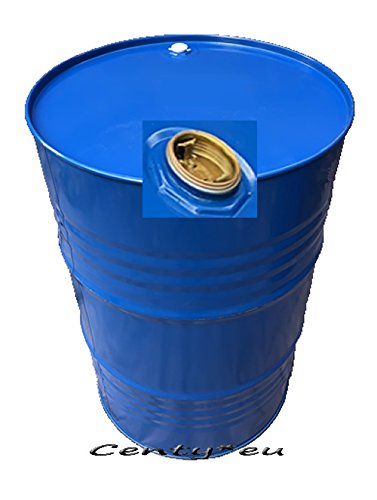 200 Liter Metallfass Spund blau innen lackiert Stahlfass Ölfass Feuertonne Behälter Tonne Blechfass Stehtisch