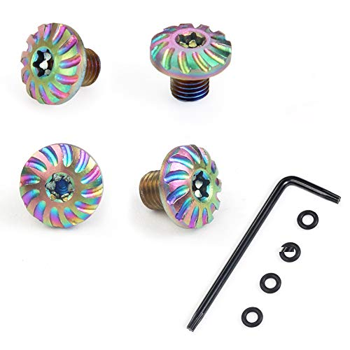Cool Hand Screws for Sig P238 P938 Grips, 4 Stainless Steel Screws, 4 O Rings, Torx Key (Rainbow Color, CHS-1-P)