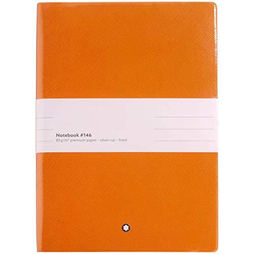 Montblanc Notebook #146, Manganese Orange, a righe