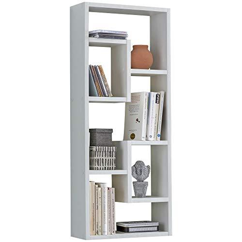 FineBuy Wandregal Rose 36 x 90 x 13,5 cm Holz Design Weiß Hängeregal modern | Wandboard freischwebend | Holzregal Regal für die Wand | Bücherregal schmal | Dekoregal Schweberegal hoch