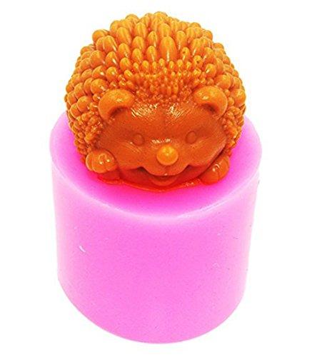 Moule 3D en silicone en forme de hérisson pour fabriquer des savons et des bougies artisanaux