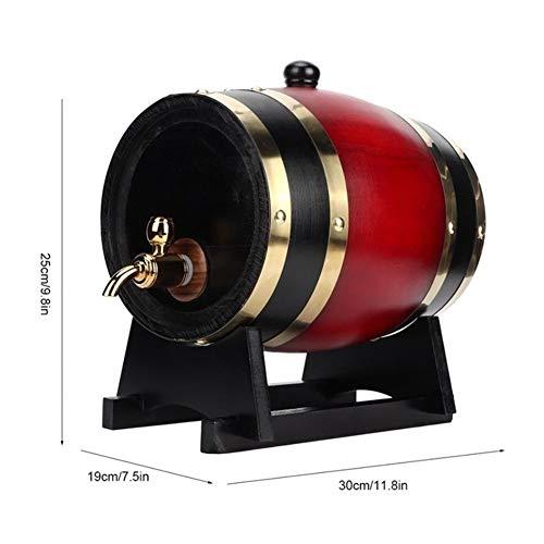 Elaboración de la cerveza Homebrew cerveza 3L de la vendimia de roble barril de madera Vino de la cerveza del barrilete del cubo dispensador de fabricación de la cerveza Accesorios Equipo Bols
