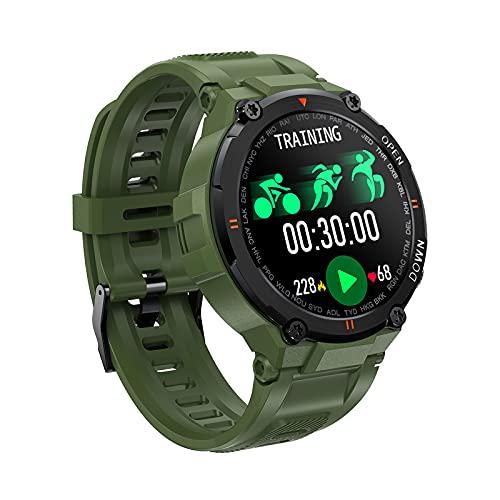 LEMONDA - Reloj inteligente de 1,28 pulgadas Full Circle Touch Smartwatch Reloj inteligente inteligente con 8 modos deportivos, monitor de frecuencia cardiaca de presión arterial de reloj deportivo