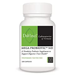 DIGESTIVE SUPPORT: Mega Probiotic ND is an all-natural probiotic formula that promotes healthy digestion, normal GI function and regularity.* BALANCE OF FRIENDLY BACTERIA: Each capsule is guaranteed to contain 5 billion CFUs from 8 different strains ...