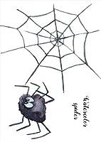 igsticker ポスター ウォールステッカー シール式ステッカー 飾り 210×297㎜ A4 写真 フォト 壁 インテリア おしゃれ 剥がせる wall sticker poster 015838 蜘蛛 スパイダー 蜘蛛の巣