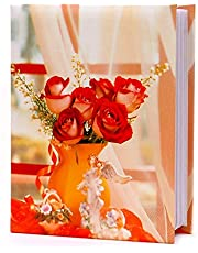 "Aadinath Assorted Multicolor 100 Pockets 4"" x 6"" Photo Album"