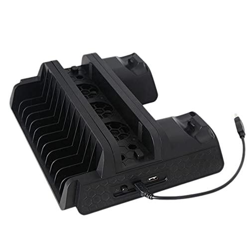SPRINGHUA -TP4-882 Radiador Fans Incorporado Soporte de enfriamiento Vertical Multifuncional con Cargador USB para PS4 /PS4 Slim