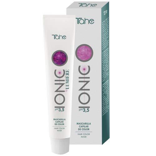 Tahe Ionic Lumière Mascarilla Capilar/Mascarilla de Color de PH de 3,5 Ácido, sin Parabenos. Altamente Nutriente e Hidratante, Café Claro, 100 ml