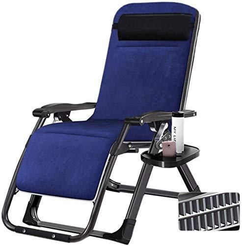 WDHWD Reclinable, sillas reclinables afuera, con Soporte para Taza y teléfono, Mecedora de jardín al Aire Libre, Silla Relajante, Silla de Exterior de Gravedad Cero