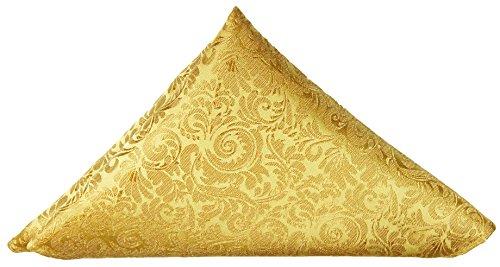 Paul Malone Einstecktuch Microfaser gold barock