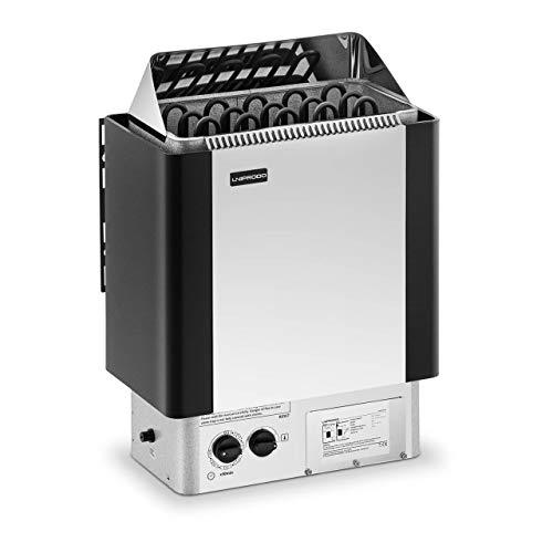 Uniprodo UNI_SAUNA_S8.0KW Saunaofen 8 kW 30 bis 110 °C inkl. Steuerung Zeitschaltuhr Überhitzungsschutz