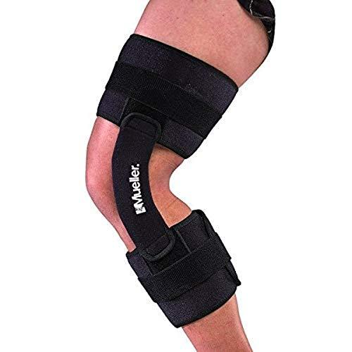 Mueller 2100 Hinged Knee Brace, Black, One Size Fits Most   Knee Brace for Sports, Lineman's Knee Brace