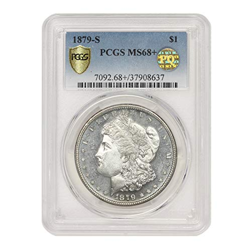 1879 S American Silver Morgan Dollar MS-68+ PQ Approved Illinois Set by CoinFolio $1 MS68+ PCGS