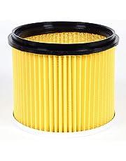Einhell Originele vervanging vouwfilter met deksel (geschikt voor Einhell nat-droogzuiger, voor droog zuigen, 150 mm diameter, 155 mm hoogte)
